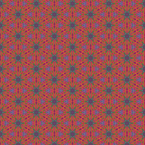Red Orange Digital Floral Ditzy © Gingezel™ 2013 fabric by gingezel on Spoonflower - custom fabric