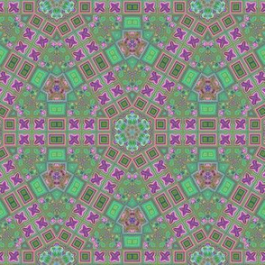 Lina's Garden Hexagon Pattern 1 © Gingezel™ 2013