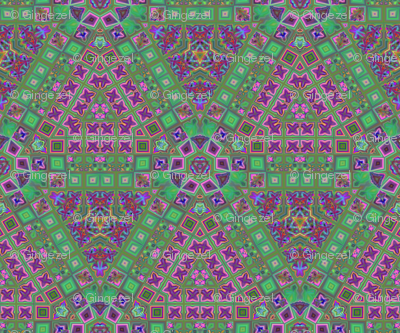Lina's Garden Hexagon Pattern 2 © Gingezel™ 2013