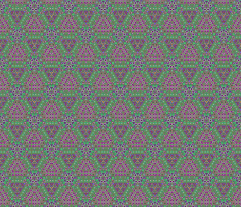 Lina's Garden Hexagon Pattern 2 © Gingezel™ 2013 fabric by gingezel on Spoonflower - custom fabric