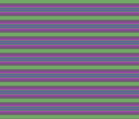 Green and Pink Horizontal Stripe © Gingezel™ 2013 fabric by gingezel on Spoonflower - custom fabric