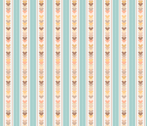 Stripes and hearts fabric by stewsha on Spoonflower - custom fabric