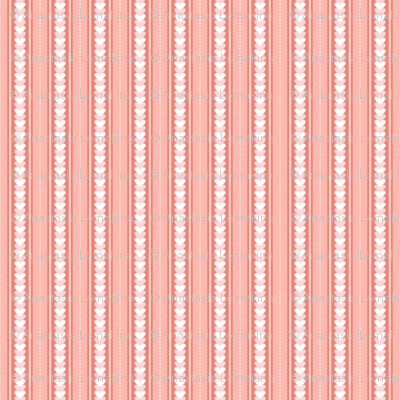 Stripes and hearts (pink)