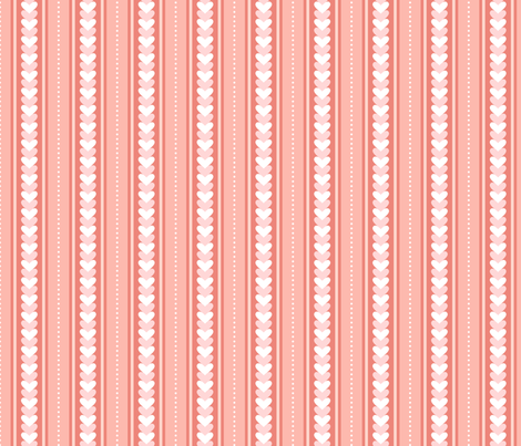 Stripes and hearts (pink) fabric by stewsha on Spoonflower - custom fabric