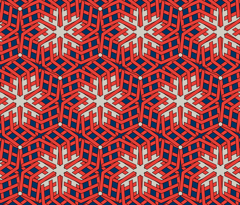 sailors rose on blue fabric by susiprint on Spoonflower - custom fabric