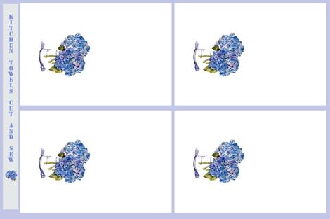 Cape Cod Hydrangea Dishtowels fabric by karenharveycox on Spoonflower - custom fabric