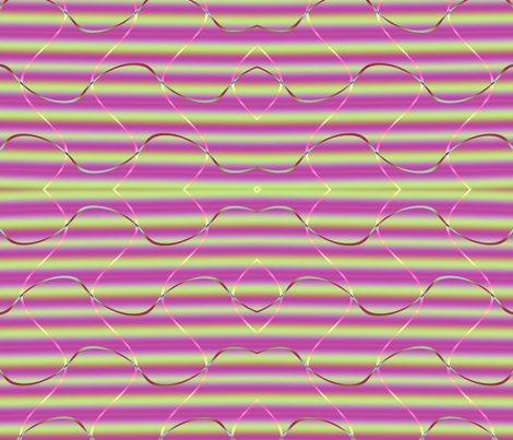 Fractal: Violet and Green Stripes and Swirls fabric by artist4god on Spoonflower - custom fabric