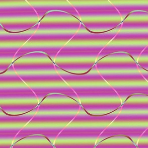 Fractal: Violet and Green Stripes and Swirls