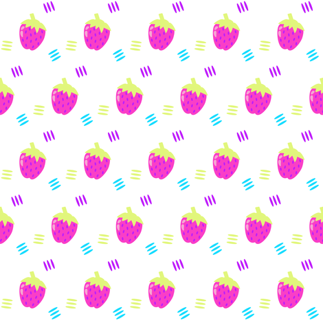 Berry Sweet Strawberry! - Summer's Call - © PinkSodaPop 4ComputerHeaven.com fabric by pinksodapop on Spoonflower - custom fabric