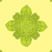 Paisley square green