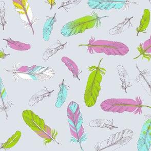 Bird feathers.
