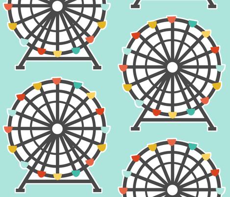 Ferris Wheel fabric by natitys on Spoonflower - custom fabric