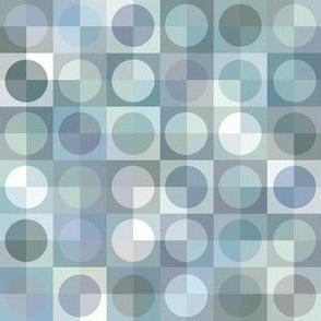 checkered circles