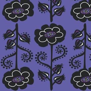 Fun & Funky Flowers on Lavender