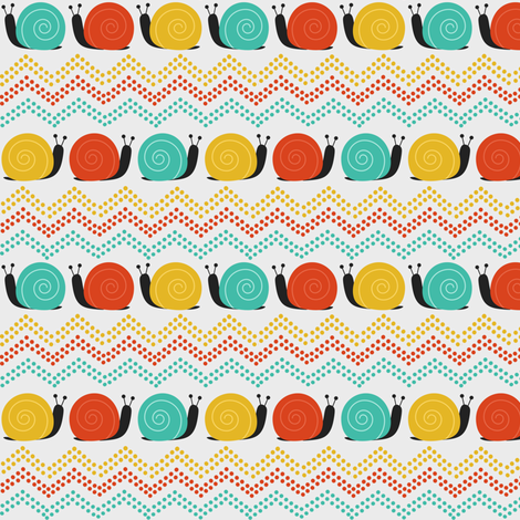 Zigs and Snails fabric by natitys on Spoonflower - custom fabric