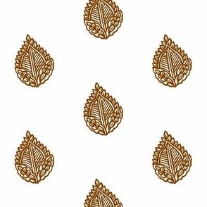 Falling Leaf Sepia