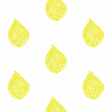 Falling Leaf Limoncello fabric by frocklove on Spoonflower - custom fabric