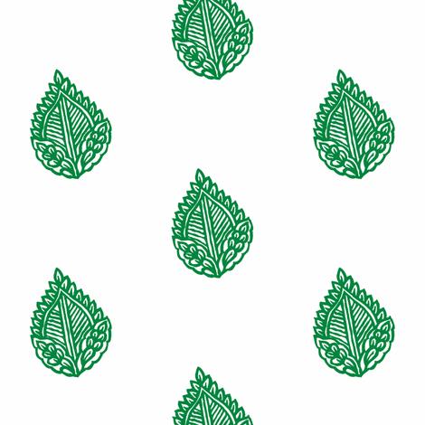Falling Leaf Emerald fabric by frocklove on Spoonflower - custom fabric
