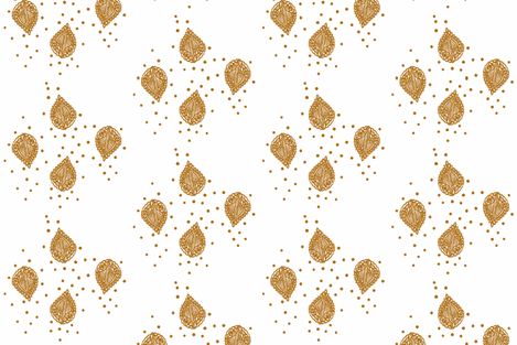 Four Falling Leaves Sepia fabric by frocklove on Spoonflower - custom fabric