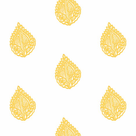Falling Leaf Maize fabric by frocklove on Spoonflower - custom fabric