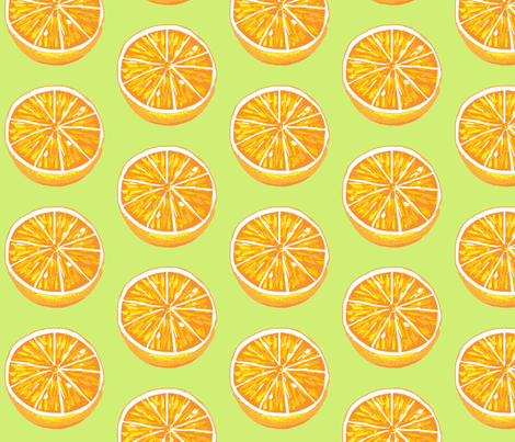 orange you glad to see me fabric by mezzime on Spoonflower - custom fabric