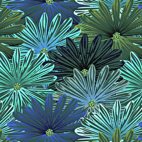 big flowers blue