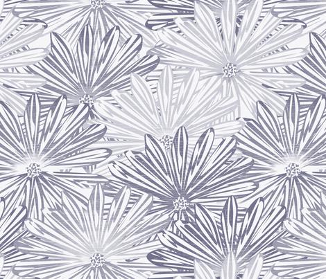 big flowers wedgewood fabric by glimmericks on Spoonflower - custom fabric