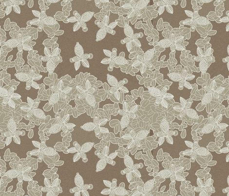 African Lace in Smoke fabric by bloomingwyldeiris on Spoonflower - custom fabric