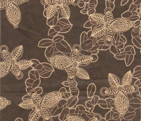 African Faux Lace in Coffee Brown