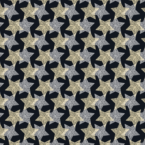 The Binary Shuffle - silver and gold synergy0012 fabric by glimmericks on Spoonflower - custom fabric