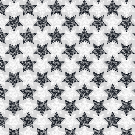 Mirrorculous Stars navy and_white_synergy0012 fabric by glimmericks on Spoonflower - custom fabric