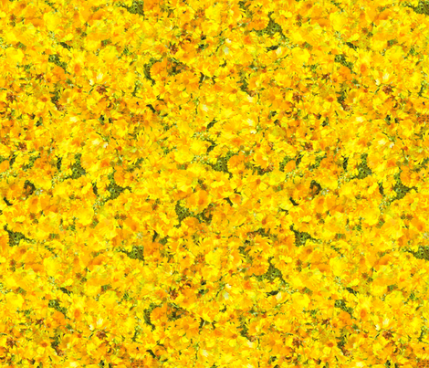 Sunshine in the Flowers fabric by anniedeb on Spoonflower - custom fabric