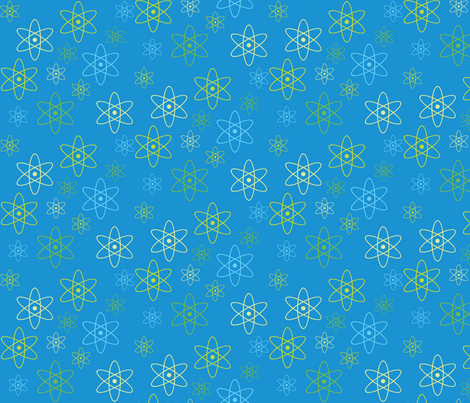 Atomic Science (Blue) fabric by robyriker on Spoonflower - custom fabric