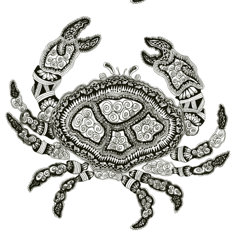 Crabby fabric by joonmoon on Spoonflower - custom fabric