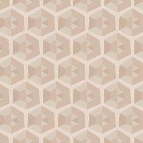 Beige Faceted Honeycomb © Gingezel™  2013