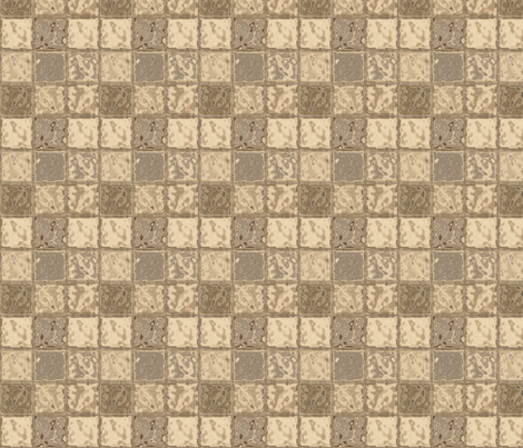 Beige Faux Tiles © Gingezel™ 2013 fabric by gingezel on Spoonflower - custom fabric