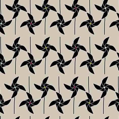 Windmills fabric by candyjoyce on Spoonflower - custom fabric