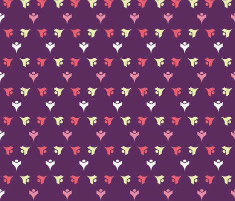 TULIP_BUDS_GRAPE fabric by katyclemmans on Spoonflower - custom fabric