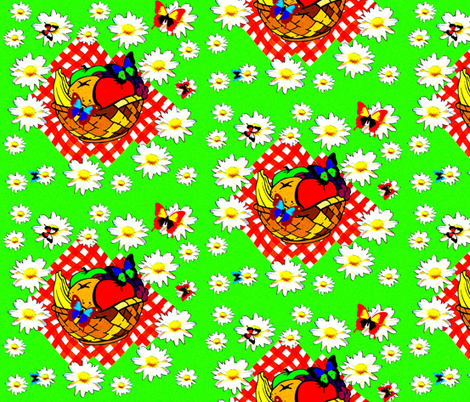 Picnic valley fabric by retroretro on Spoonflower - custom fabric