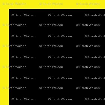 Yellow on Black Windowpane Grid