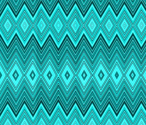 AQUA DIAMOND CHEVRON fabric by bluevelvet on Spoonflower - custom fabric