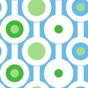 Modern Green Circles