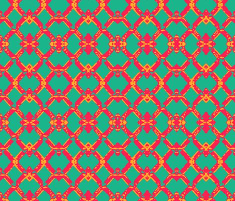 Tropical Lattice fabric by relative_of_otis on Spoonflower - custom fabric