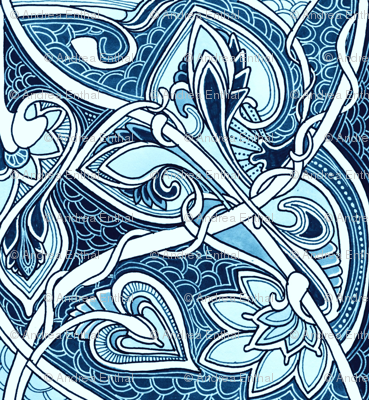 Blue Bell Chain Vertical Stripe
