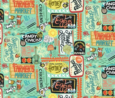 Farmer's Market Fun fabric by gsonge on Spoonflower - custom fabric