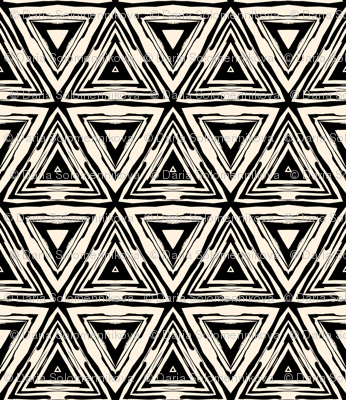 Geometric ethnic pattern in black and white