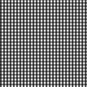 tiny gingham black and white