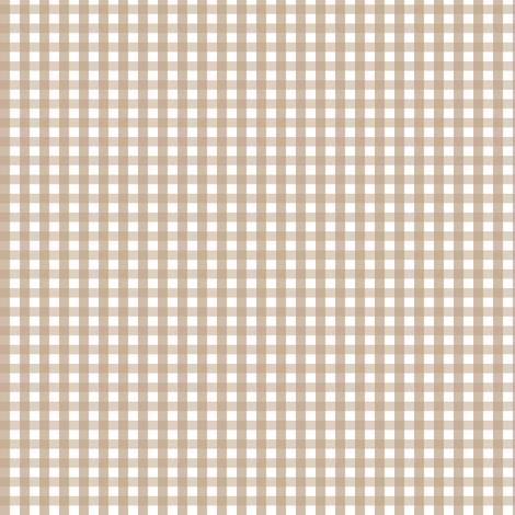 gingham tan fabric by misstiina on Spoonflower - custom fabric