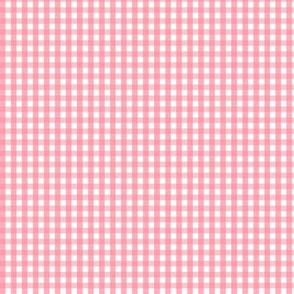 tiny gingham pretty pink
