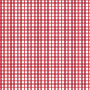 tiny gingham red